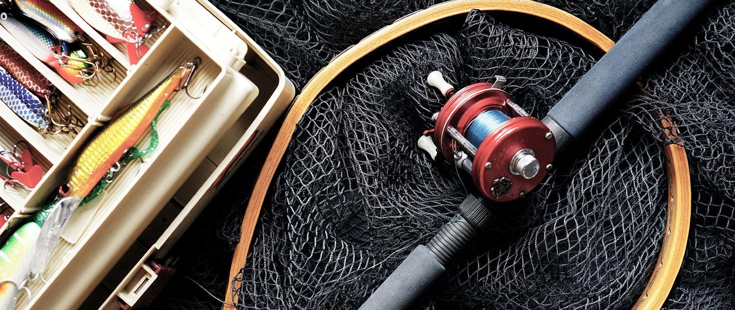 Retino, canna e accessori per la pesca